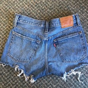 Levi's cutoff jean shorts from Urban Outfitters